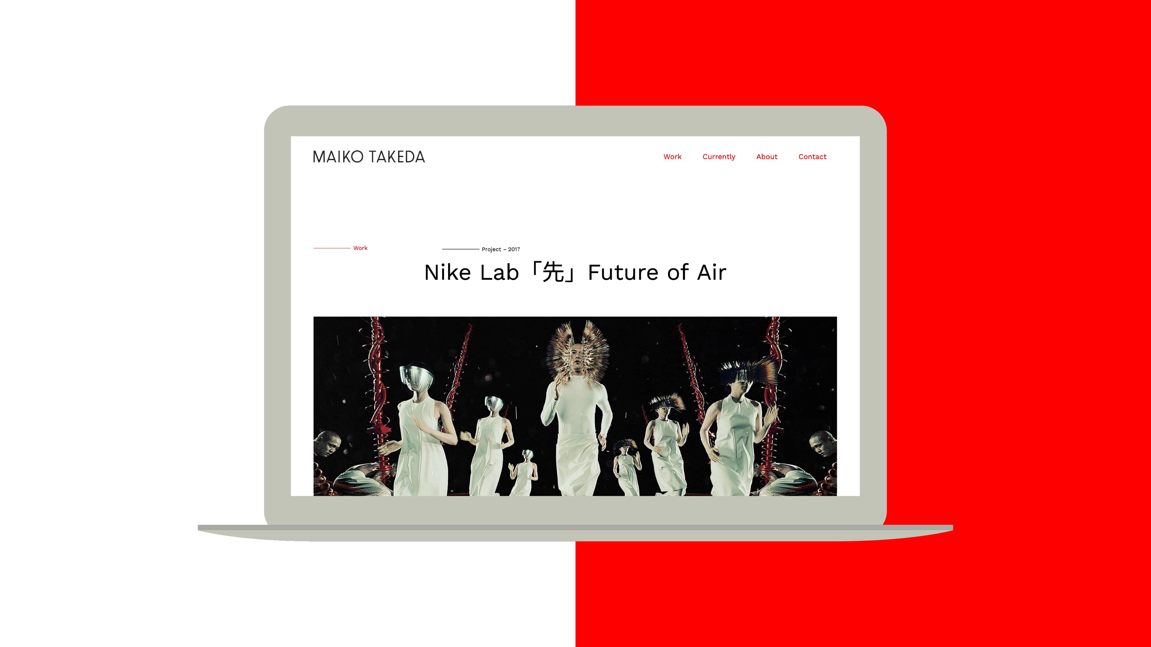Website für Maiko Takeda – gestaltet von Martin Fromm